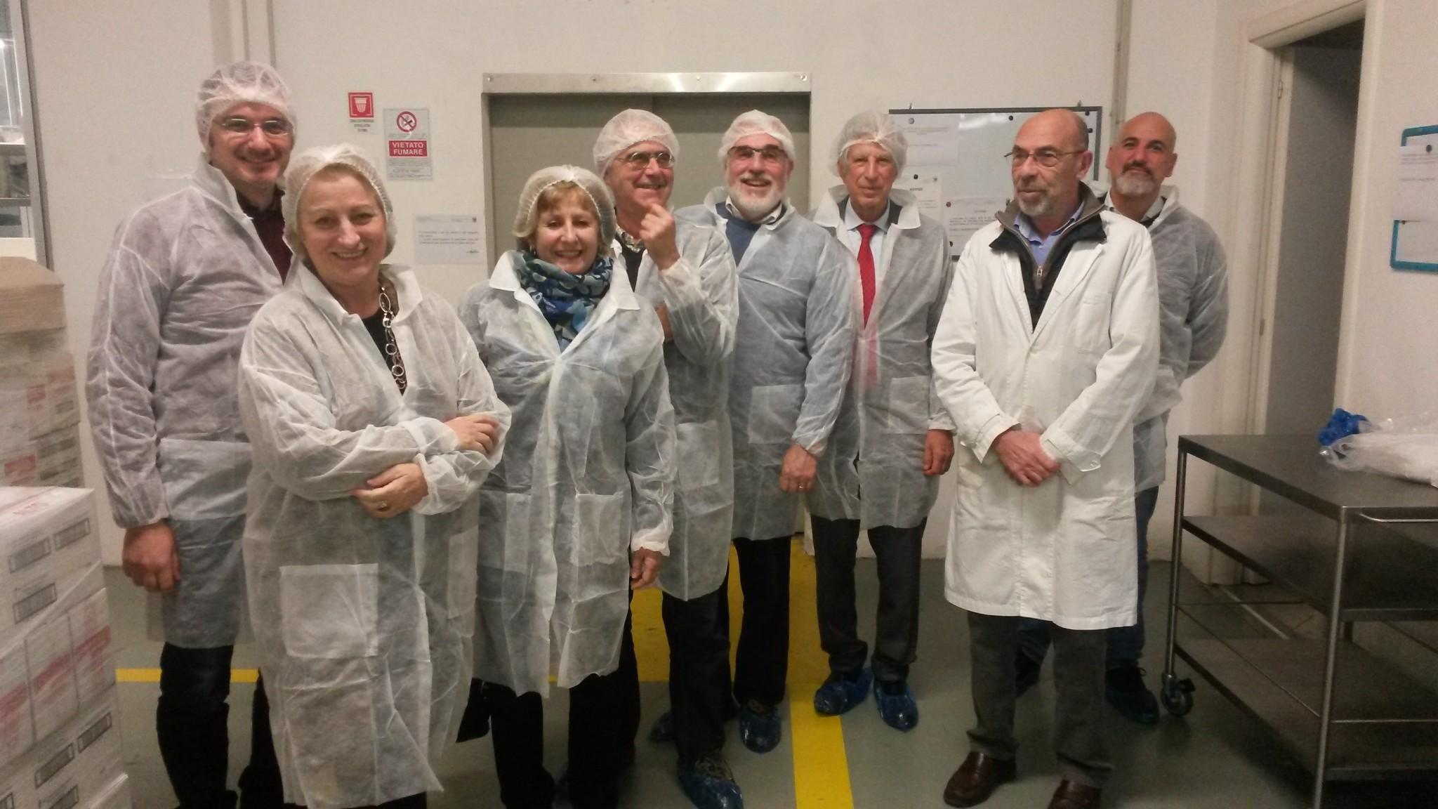 Il gruppo in visita allo stabilimento Gianasso.