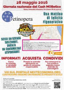 Locandina della Giornata Nazionale Cash Mob Etico Roma