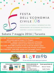 Locandina della Giornata Nazionale SlotMob di Taranto - 7 maggio