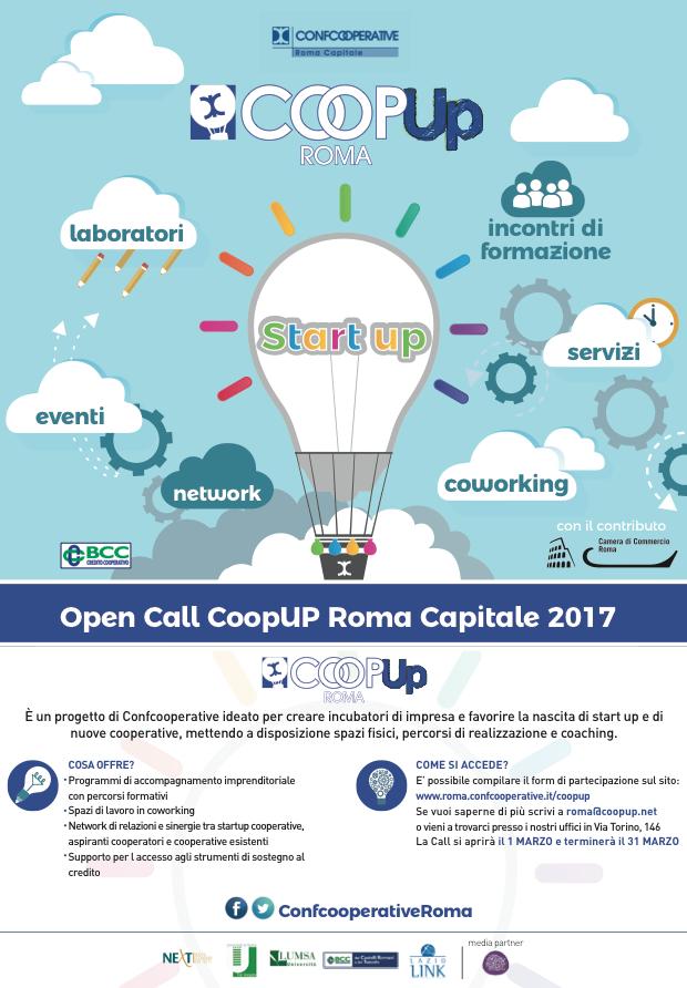 locandina CoopUp Roma e Lazio
