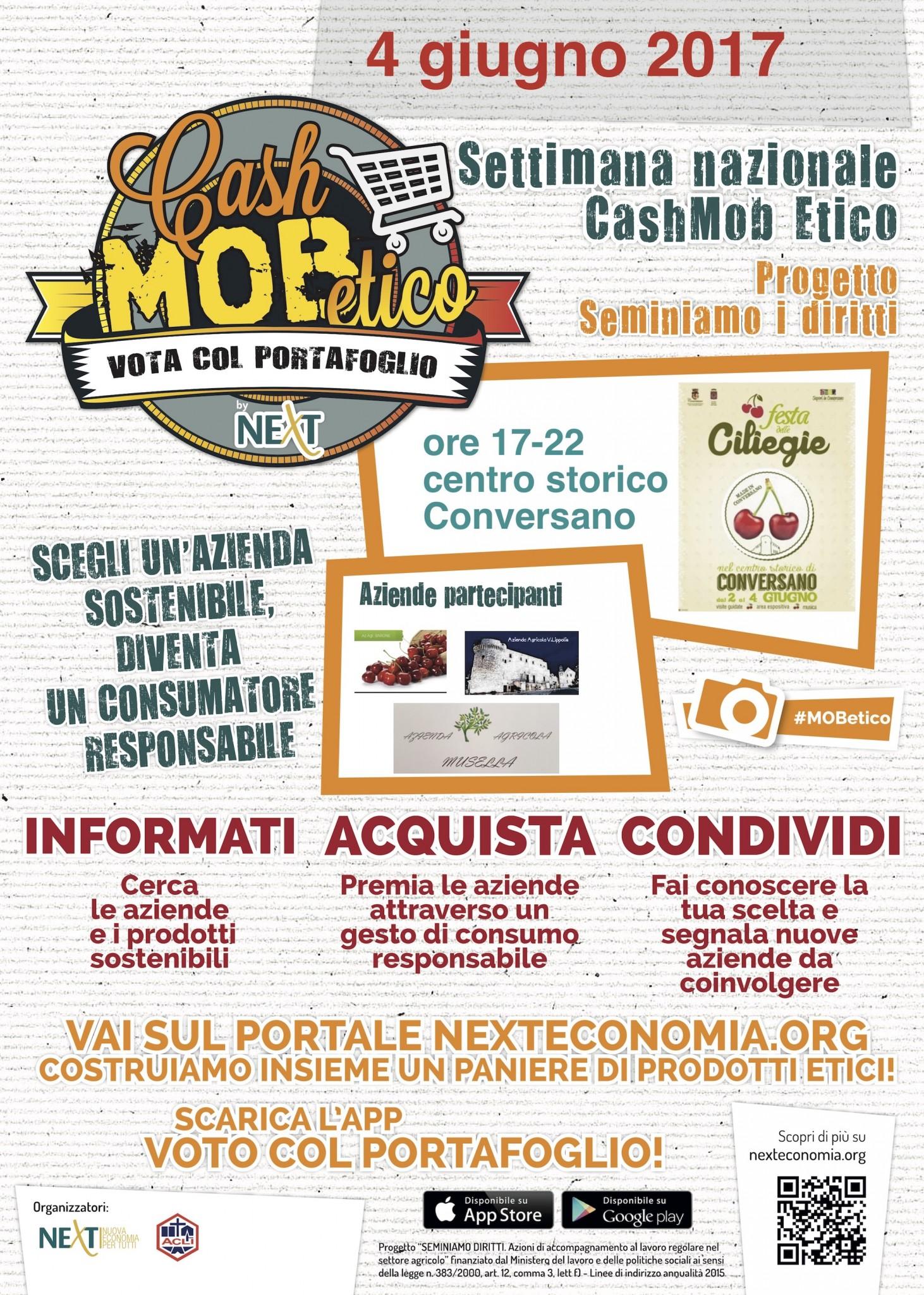Locandina Cash Mob Etico Bari_4giugno
