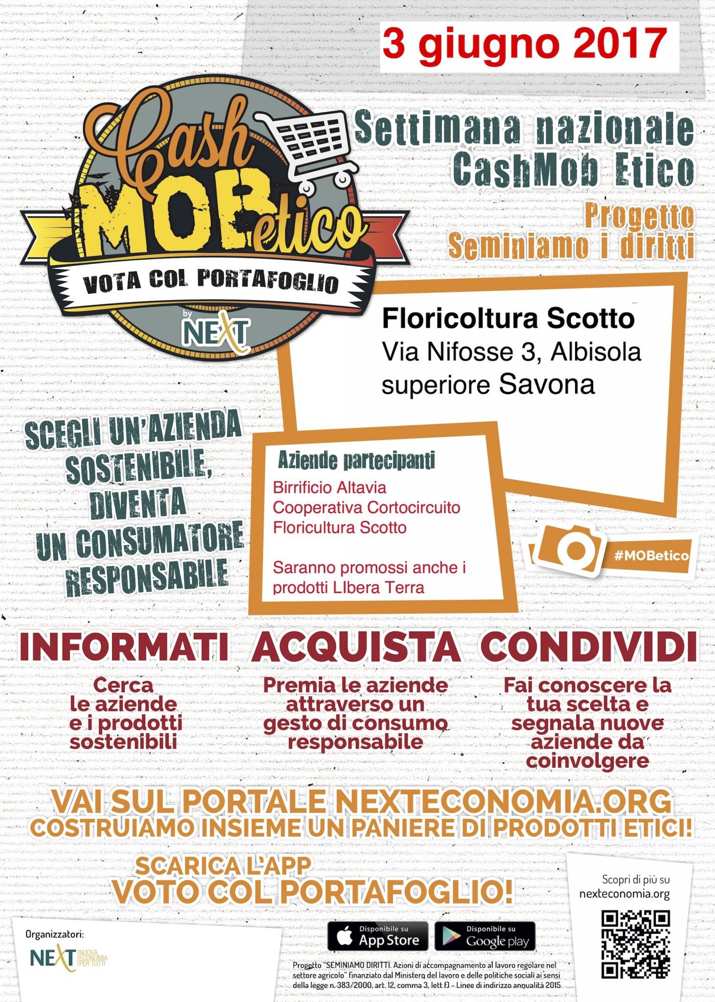 Locandina Cash Mob Etico Savona