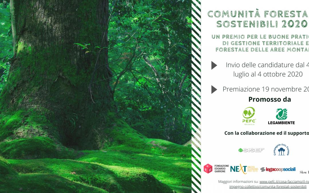 Premio Comunità Forestali Sostenibili 2020