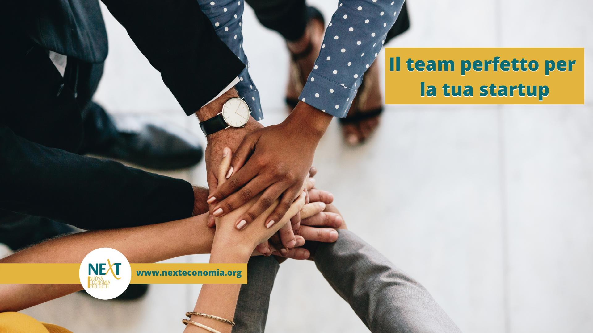 team startup sostenibile